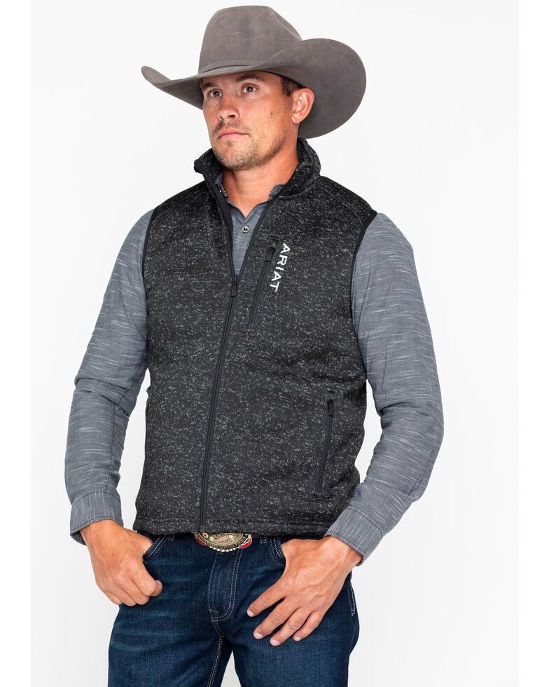 Ariat Men's Caldwell Full Zip Vest, Black, hi-res