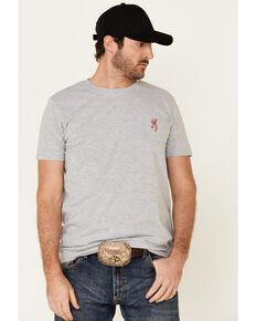 Browning Men's Light Grey Shoot Straight Buckmark Back Graphic Short Sleeve T-Shirt , Light Grey, hi-res