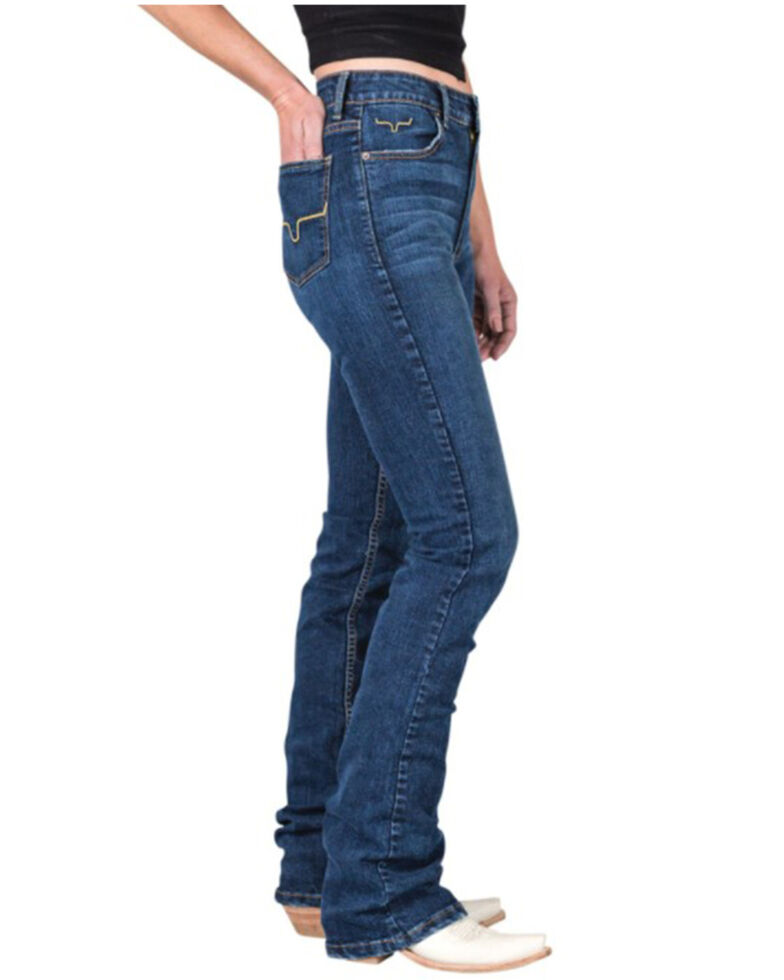 Kimes Ranch Women's Dark Wash Sarah Slim Bootcut Jeans, Blue, hi-res