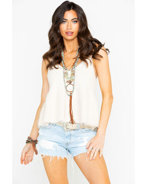 Sadie & Sadie Women's Solid Soft Knit Top , Cream, hi-res