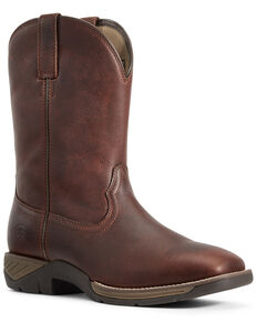 Ariat Men's Ranch Work Western Boots - Wide Square Toe, Brown, hi-res