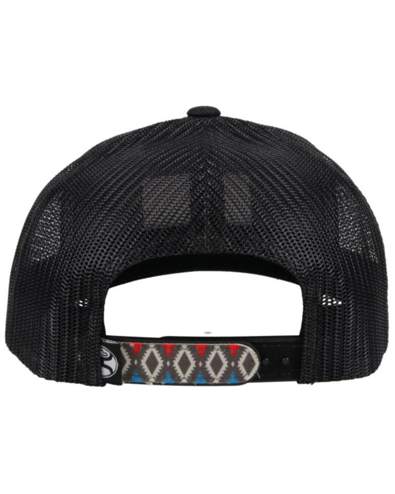 HOOey Men's Doc Patch Aztec Print Mesh Ball Cap , Black, hi-res