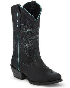 Justin Women's Buffalo Western Boots - Square Toe, Black, hi-res