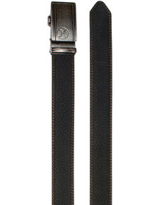 HOOey Men's Ratchet Leather Belt, Black, hi-res