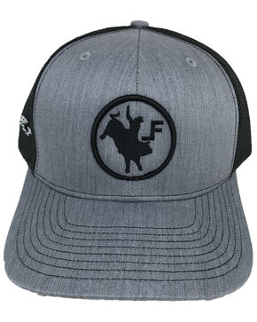 Lane Frost Men's Iron Cowboy Mesh Ball Cap , Grey, hi-res