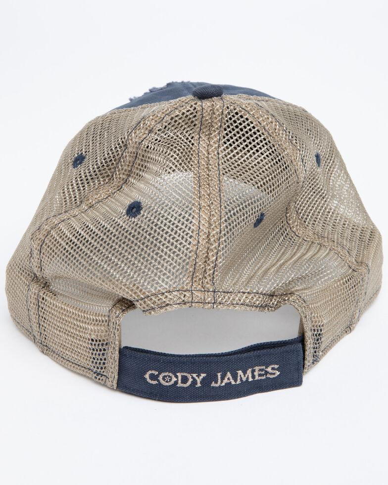 Cody James Men's Ripped Flag Mesh Ball Cap , Blue, hi-res