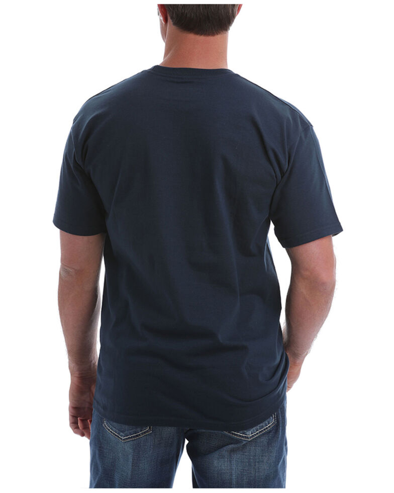 Cinch Men's Navy Circle Logo Short Sleeve T-Shirt , Navy, hi-res