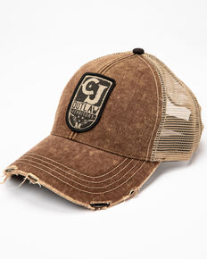 Cody James Men's Retro Eagle Circle Fleg Graphic Ball Cap, Brown, hi-res