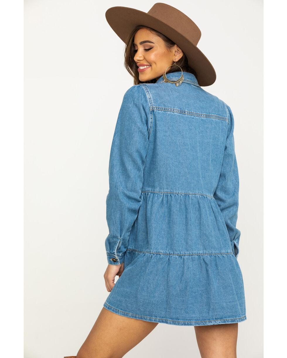 Free People Women's Blue Nicole Denim Shirt Dress, Blue, hi-res