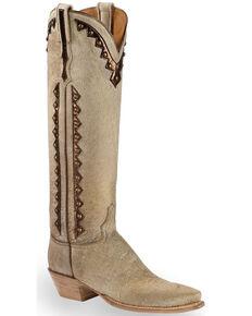 5c8589cdeb0a0e Lucchese Handmade Calf Hair Danielle Tall Cowgirl Boots - Pointed Toe