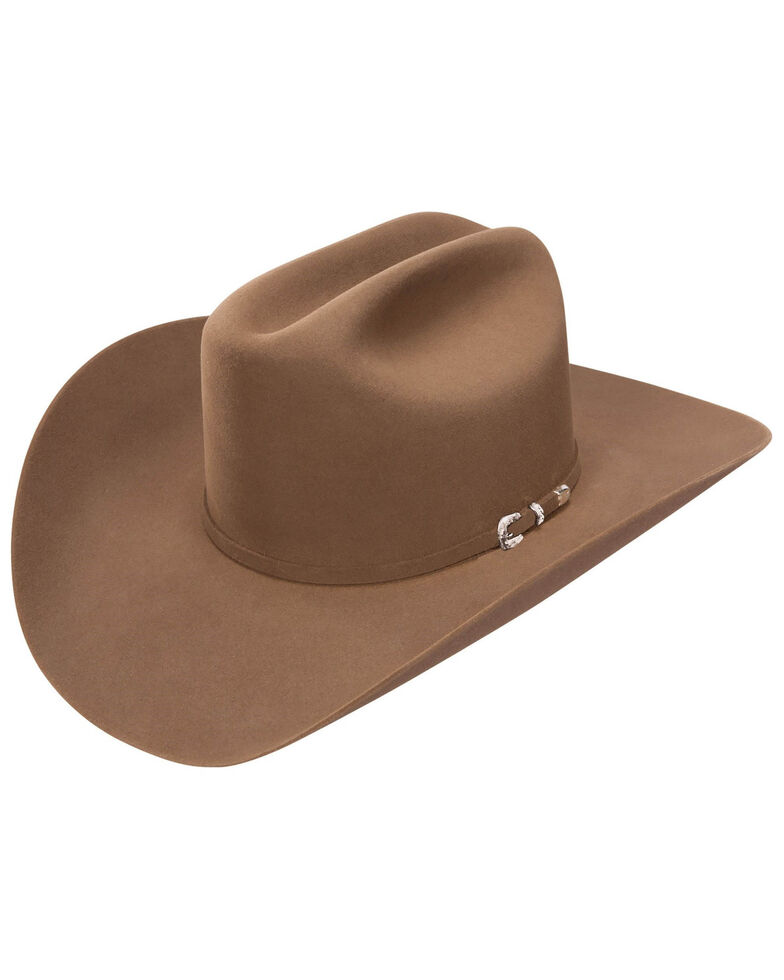 Stetson Men's 3X Chocolate Lariat Fur Felt Western Hat , Chocolate, hi-res