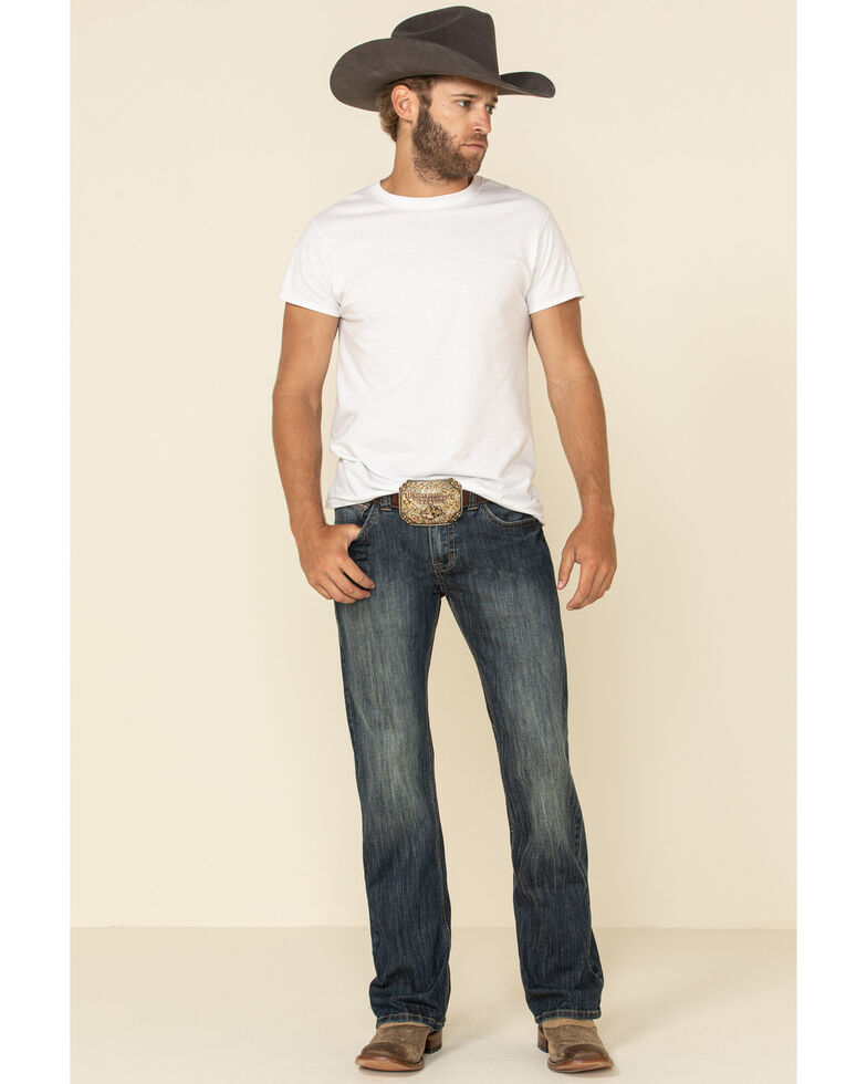 Rock Roll Denim Men S Pistol Dark Reflex Stretch Bootcut Jeans Country Outfitter