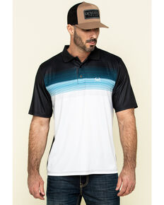 Cinch Men's Arena Flex Color Blocked Striped Short Sleeve Polo Shirt , Multi, hi-res