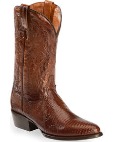 Dan Post Raleigh Lizard Western Boots - Medium Toe, Tan, hi-res