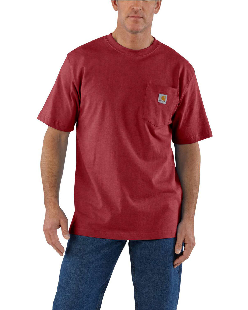 Carhartt Men's Workwear Pocket Short-Sleeve Work T-Shirt - Big , Red, hi-res