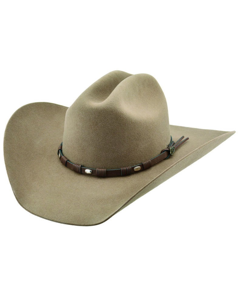 Justin Men's 6X Fawn Townes Western Felt Hat , Taupe, hi-res