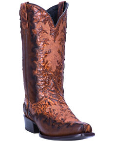 Dan Post Men's Duncan Western Boots - Snip Toe, Chocolate, hi-res
