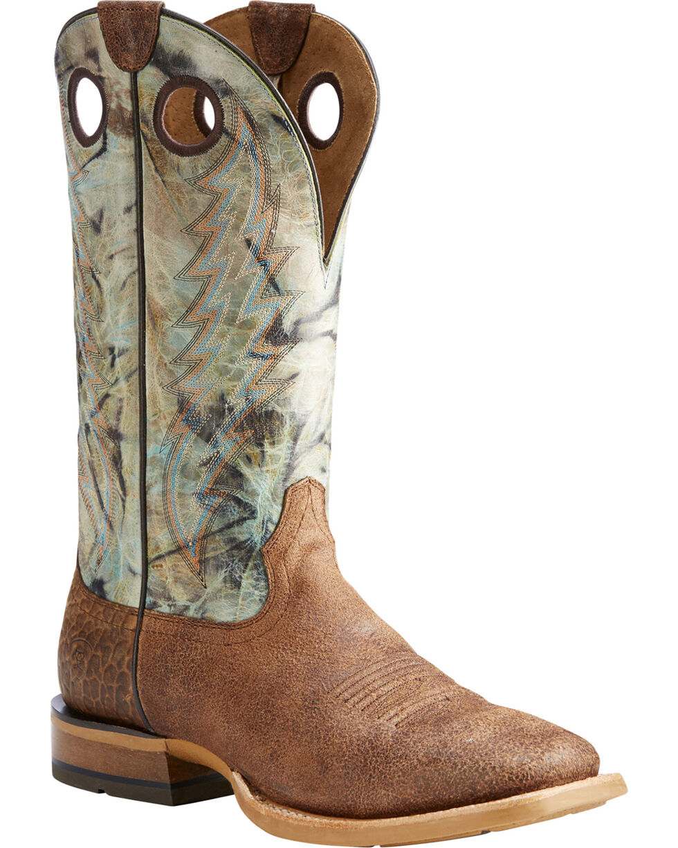Ariat Men's Sand Branding Pen Scratched Western Boots - Square Toe , , hi-res