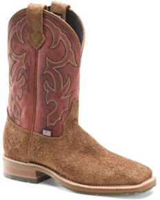 Double H Men's Odessa Western Boots - Square Toe, Distressed Brown, hi-res