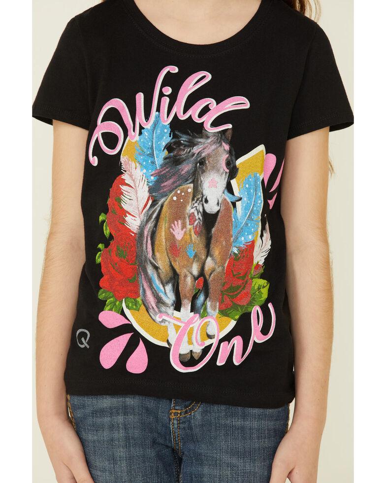 Rodeo Quincy Girls' Wild Ones Graphic Short Sleeve Tee  , Black, hi-res