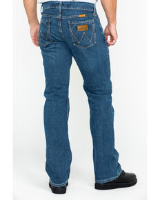 Wrangler Retro Men's FR Advanced Comfort Slim Bootcut Work Jeans , Blue, hi-res