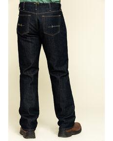Ariat Men's M4 Rebar Durastretch Flannel Lined Low Bootcut Work Jeans , Blue, hi-res