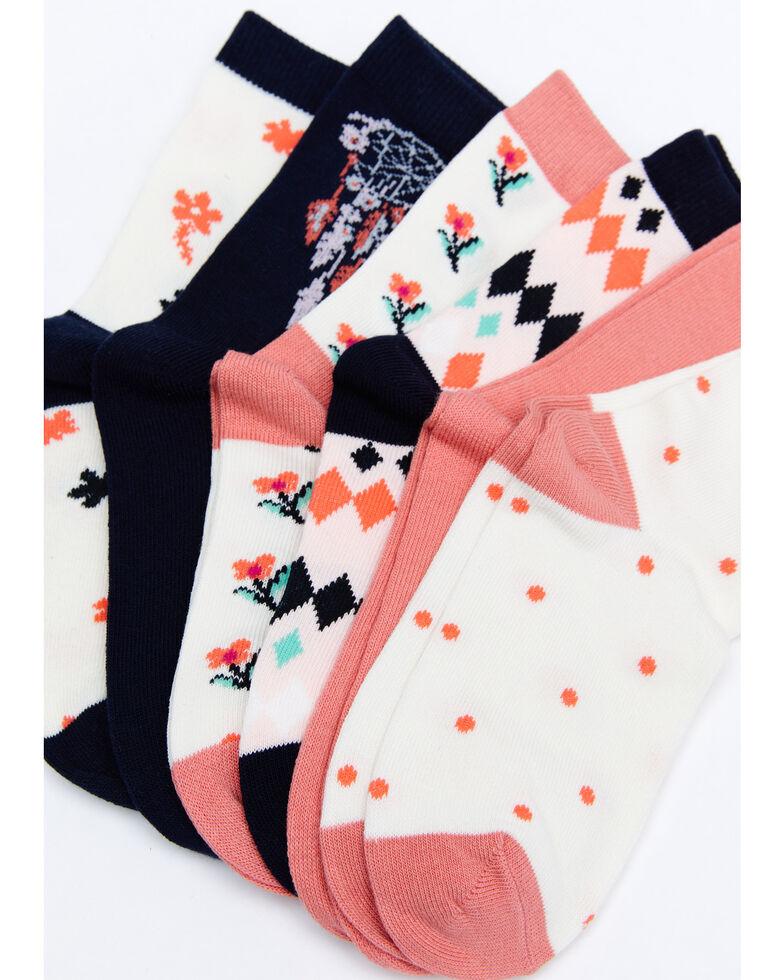 Shyanne Girls' Dream Catcher Crew Socks - 6 Pack, Multi, hi-res