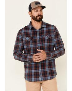 Flag & Anthem Men's Dillion Vintage Wash Plaid Long Sleeve Button-Down Western Shirt , Blue, hi-res