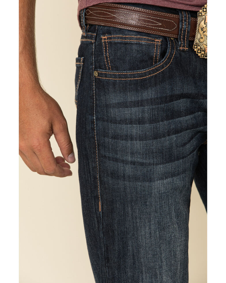 Rock & Roll Denim Men's Dark Pistol Regular Bootcut Jeans , Indigo, hi-res