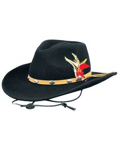 Outback Trading Co. Wide Open Spaces UPF50 Sun Protection Crushable Hat, Black, hi-res