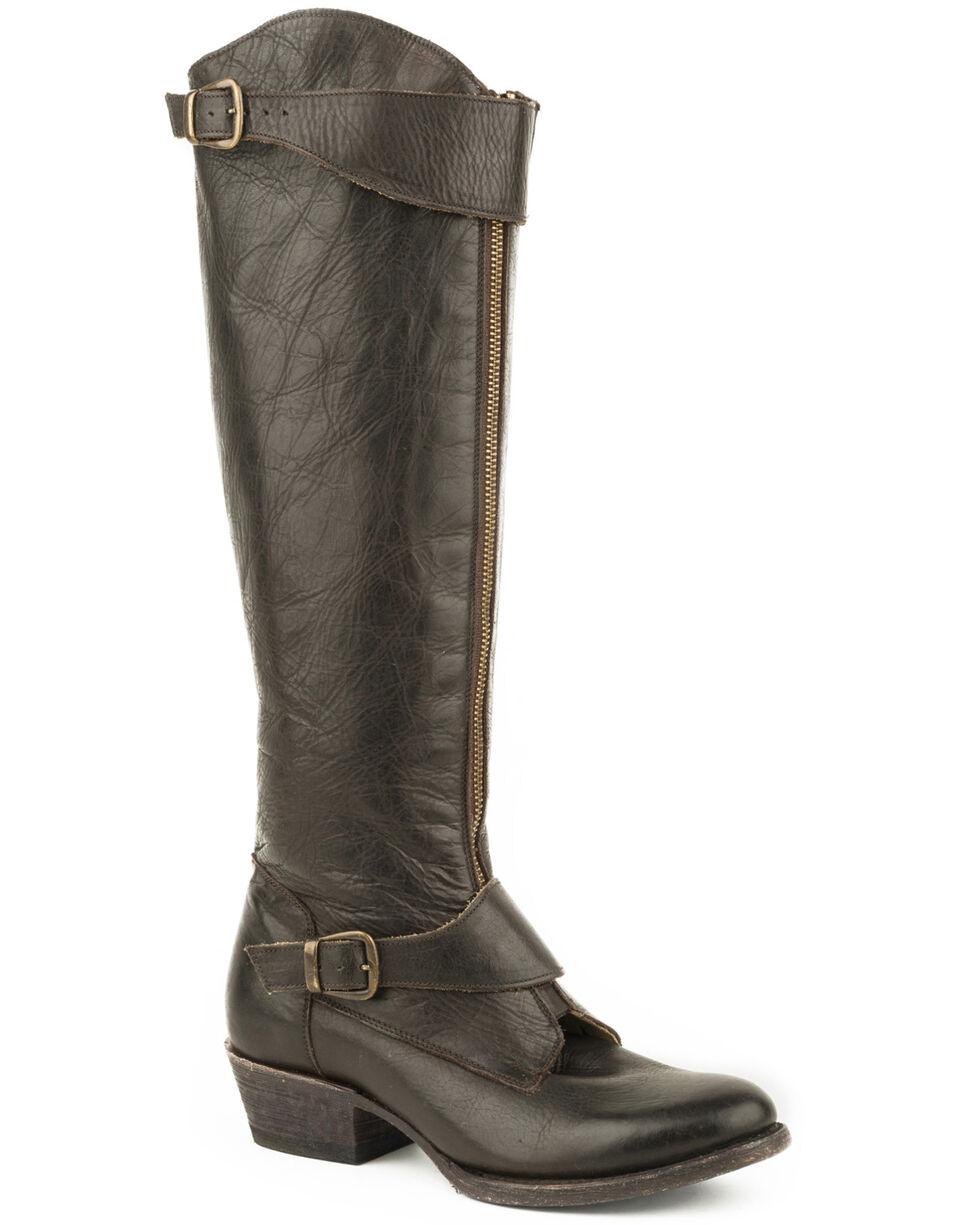 Stetson Women's Brown Kendal Zipper Boots - Round Toe , Brown, hi-res