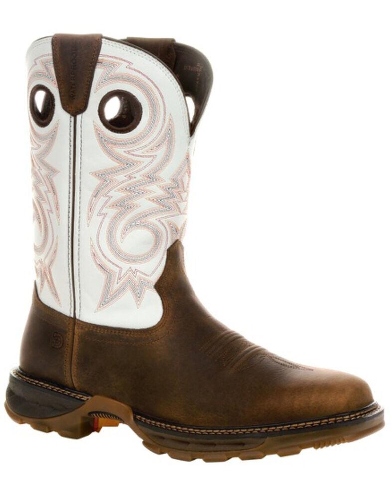 Durango Men's Maverick XP Waterproof Western Work Boots - Soft Toe, Chocolate, hi-res