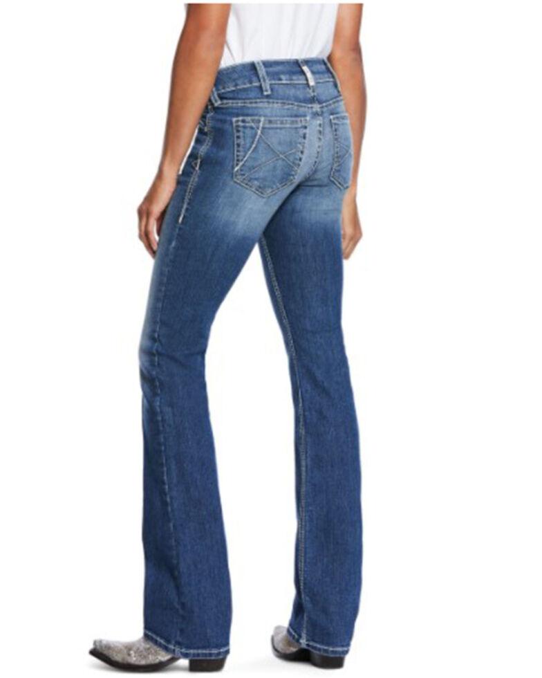 Ariat Women's Arrow Ella Bootcut Jeans, Blue, hi-res