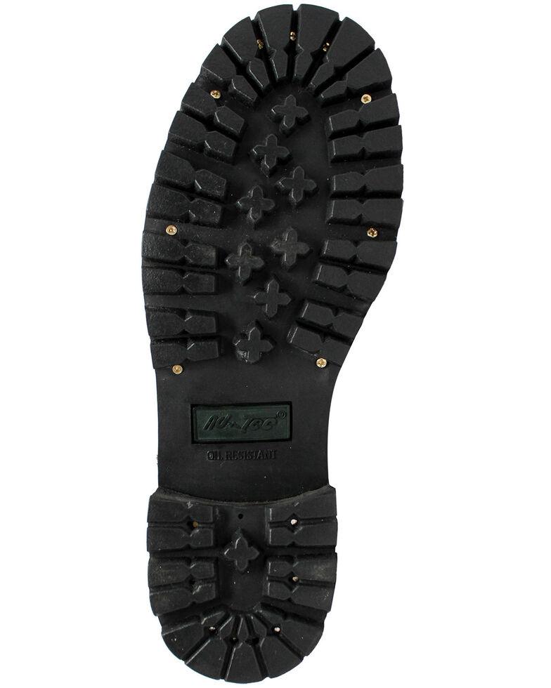 "Ad Tec Men's 9"" Waterproof Logger Work Boots - Steel Toe, Black, hi-res"