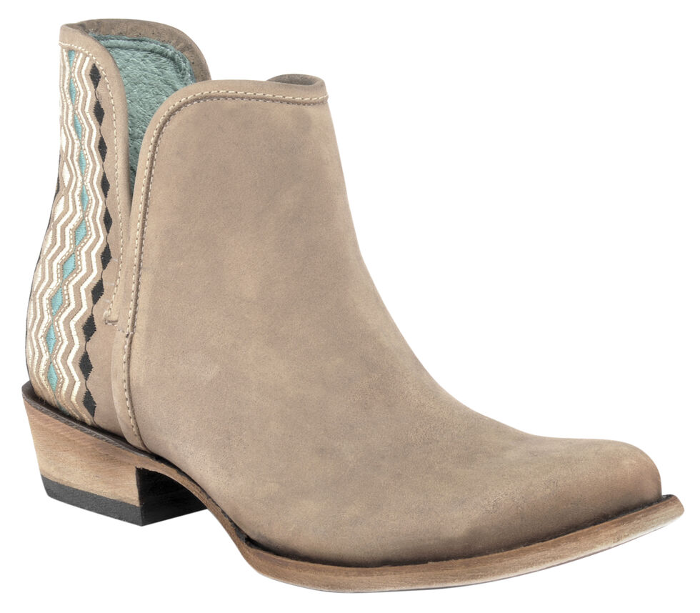 Corral Sand Women's Color Stitch Booties - Round Toe , Sand, hi-res