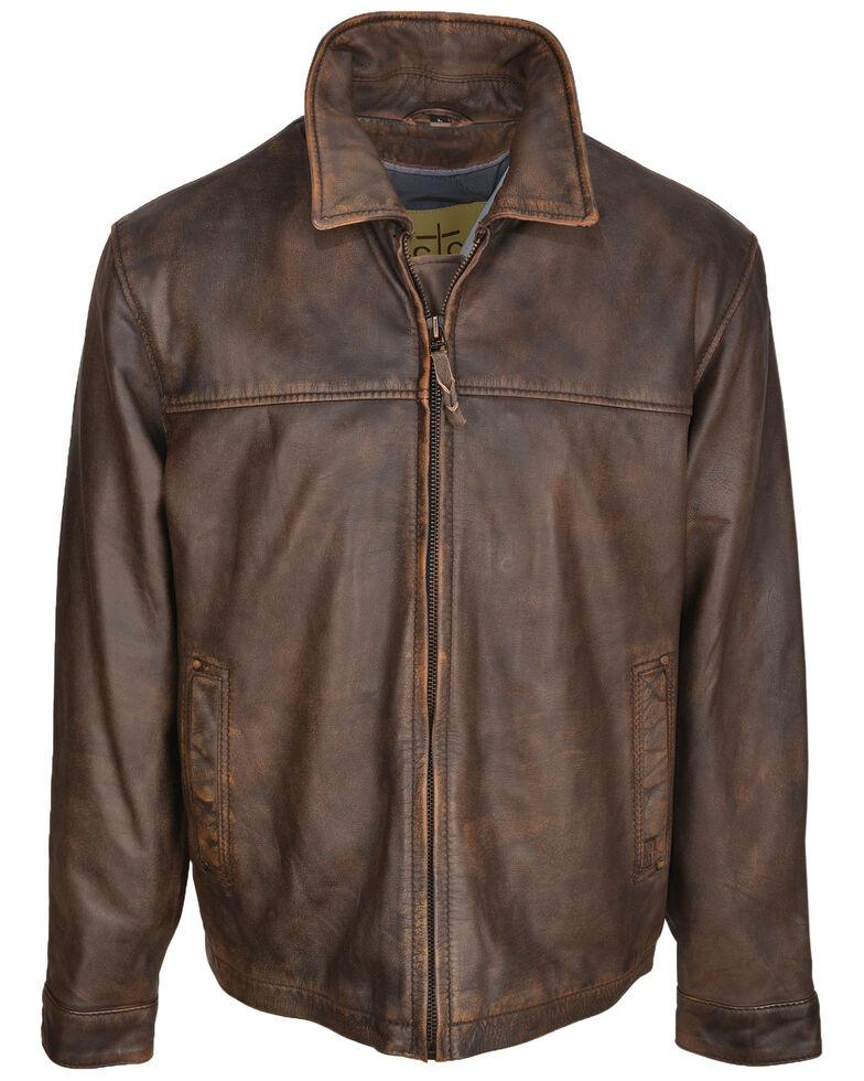 STS Ranchwear Women's Tobacco Brown Rifleman Leather Jacket, Brown, hi-res