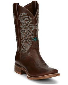 Nocona Women's Paloma Western Boots - Square Toe , Brown, hi-res