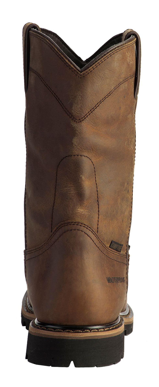 Justin Men's Pulley Waterproof MetGuard Pull-On Work Boots - Composite Toe, Brown, hi-res
