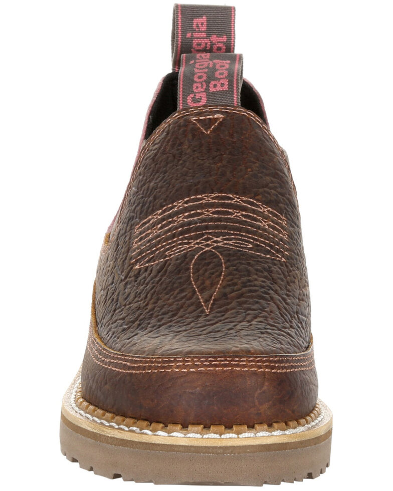 Georgia Boot Women's Giant Brown Floral Romeo Shoes - Round Toe, Brown, hi-res