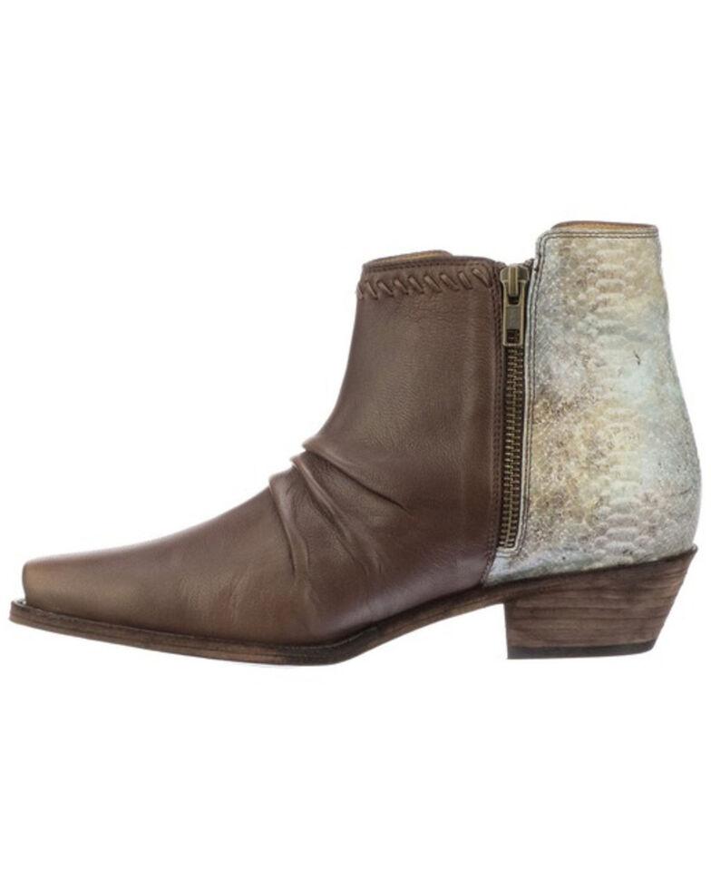 Lucchese Women's Jodie Western Booties - Snip Toe, Chocolate, hi-res