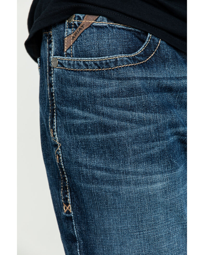 Ariat Men's M4 Bradford Bugsy Low Stackable Straight Jeans , Blue, hi-res