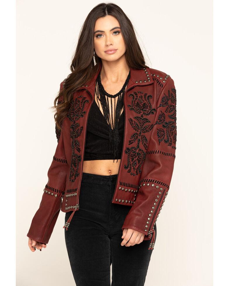 Double D Ranchwear Women's Oxblood Tasajulillo Jacket , Red, hi-res