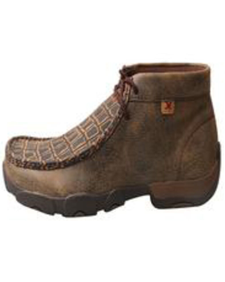 Twisted X Men's Work Driving Moc - Alloy Toe, Brown, hi-res