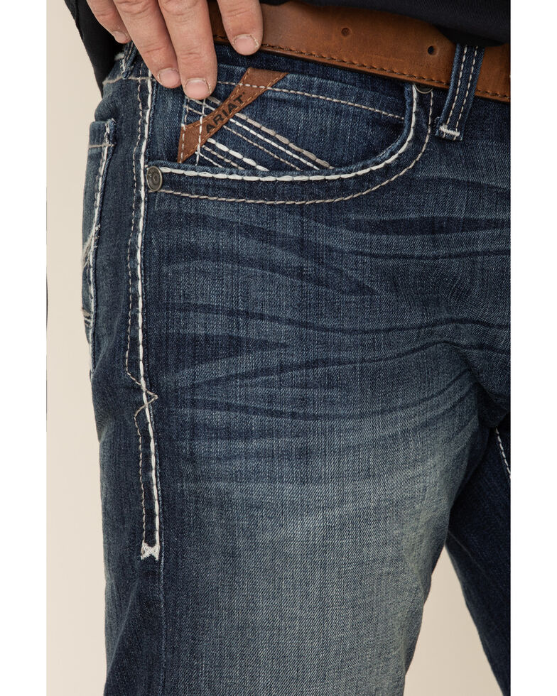 Ariat Men's M7 Nightfall Low Stackable Stretch Straight Jeans , Blue, hi-res