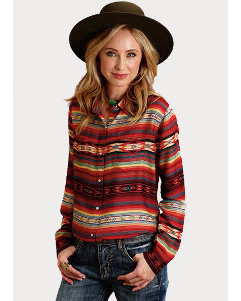 Stetson Women's Serape Print Snap Long Sleeve Shirt , Multi, hi-res