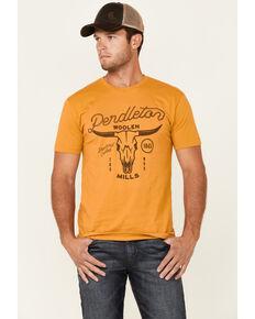 Pendleton Men's Yellow Steer Skull Graphic Short Sleeve T-Shirt , Yellow, hi-res