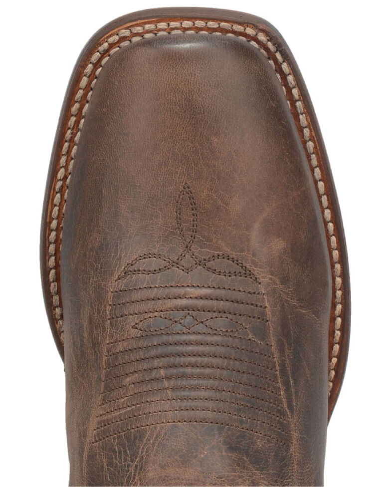 Dan Post Men's Hereford Western Boots - Wide Square Toe, Brown, hi-res