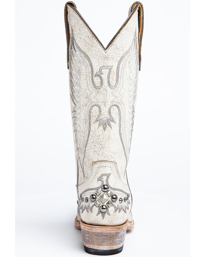 Idyllwind Women's Trouble White Western Boots - Snip Toe, White, hi-res