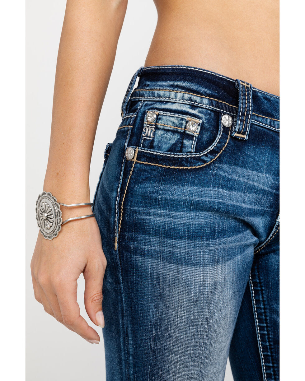 Miss Me Women's Medium Braided Wing Jeans, Blue, hi-res