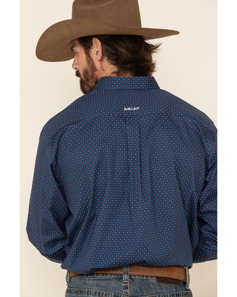 Ariat Men's Ragan Stretch Geo Print Long Sleeve Western Shirt , Blue, hi-res